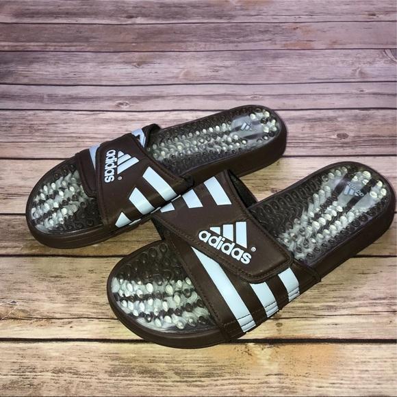 le adidas mens i sandali blu poshmark brown